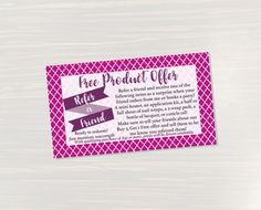 Pinning for later! These stickers are perfect. Available at Crafted By Corley on Etsy. Refer a Friend Cards - Customizable Card Coupon Card Discount Card Direct Sales Consultant Printable Digital File Jamberry Compatible by CraftedByCorley