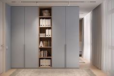 """Interior Design Project of the 156 sq.m apartment in Residential Complex """"French Block from Bezmirno Architects. Wardrobe Room, Wardrobe Design Bedroom, Bedroom Furniture Design, Modern Apartment Design, Apartment Interior, Kids Room Design, Home Room Design, Wardrobe Door Designs, Cupboard Design"""