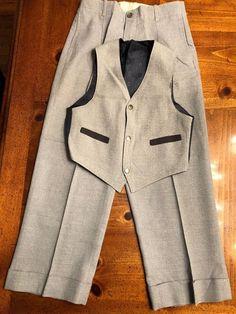 Vintage Boys Dress Pants And Reversible Vest
