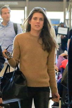 Charlotte Casiraghi at LAX airport
