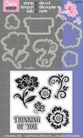 Thinking Of You Floral Framelits Die Set W/Stamp By Hero Arts. i want this from my next paycheck      Sizzix® Framelits™ Die Set 6PK w/Stamp - Floral by Hero Arts