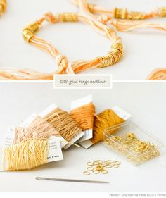 DIY Gold Ring Necklace from Flax &Twine - Home - Creature Comforts - daily inspiration, style, diy projects + freebies