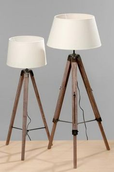 Disseny Plus - : LAMPARA PIE TRIPODE MADERA My Ideal Home, Tripod Lamp, Sweet Home, Lights, Design, Home Decor, Barcelona, Ideal House, Refurbished Furniture