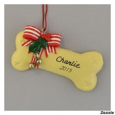 4d415bece6656 Dog Bone Personalized Christmas Ornament
