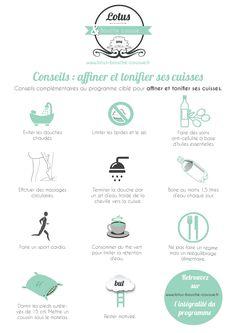 """Conseils complémentaires au programme """"Affiner et tonifier ses cuisses"""" #fitfrenchies #fitfam #fitness #motivation"""