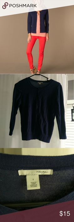Halogen cardigan lightweight small Navy blue, great cover up. Halogen Sweaters Cardigans