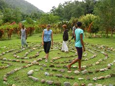 walking labyrinth images | big thanks to the hardy student of Dominica's State College who ...