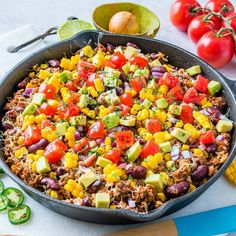 """Tex-Mex Hearty Turkey + Rice Skillet {A One-Pan meal that will make the whole #FAM happy …"""""""