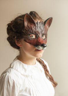 The Dark Fox Mask Fancy Dress Animal Mask Papier Mache/Paper Mache Festival Mask Party Mask