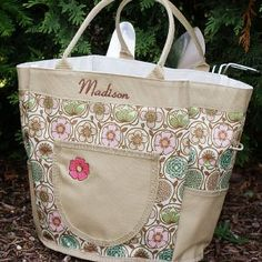 Personalized Garden Tote U0026 Tool Bag Personalized Garden Tote With