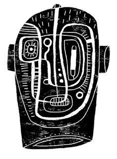'Galactic Head 1.0' (?) via American illustrator & graphic designer David Plunkert. via the artist's site