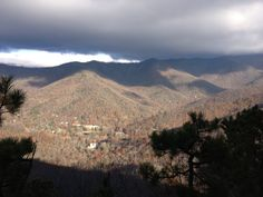 Montreat and Graybeard Mountain from Lookout Mnt. Trail near Black Mountain.