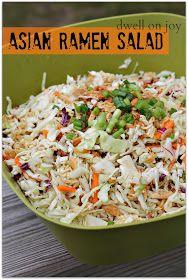 Dwell on Joy: Asian Ramen Salad  Was a great salad - I think I finally found my salad to bring to pot lucks!