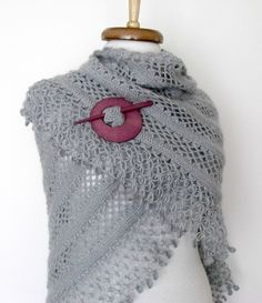 Grey Bridal CASHMERE Mohair shawlEXPRESS by knittingshop on Etsy, $65.00