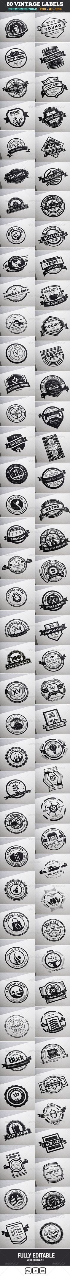 Vintage Logo Badge Design, Label Design, Web Design, Retro Design, Package Design, Typography Logo, Typography Design, Branding Design, Design Packaging