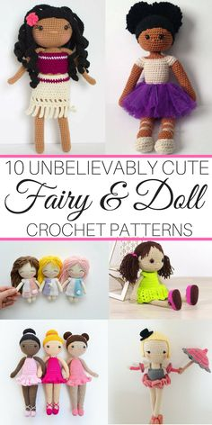 These are some of the prettiest crochet patterns I've seen! I want to make them all! #crochet #crochetpattern #pattern #fairy #dolls #amigurumi #etsy