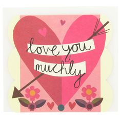 love you muchly valentine's day card
