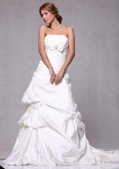 W66 Taffeta Pick-up A-line Strapless Bridal Wedding « Clothing Impulse