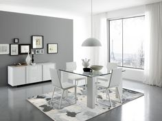 Top Modern Dining Rooms Ideas for 2018 Dining Room Decor dining room decor ideas 2018 White Dining Room Chairs, Dining Room Furniture, Dining Rooms, Ikea Dining, Furniture Ideas, Dining Table, Burgundy Living Room, Contemporary Dining Room Sets, Contemporary Design