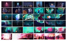 """ca-tsuka: """" Artworks of Annie student short film from french Gobelins school. Directed by Lea Justum, Chloe Nicolay, Laura Pannetier, Taylor Price and Xavier Sailliol. Film Background, Animation Background, Movie Color Palette, Colour Palettes, Character Concept, Character Design, Mood Colors, Colours, Color Script"""