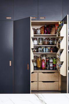 plywood kitchen larder with spice rack Kitchen Larder, New Kitchen, Kitchen Decor, Kitchen Ideas, Kitchen Cabinets, Bathroom Interior, Interior Design Kitchen, Interior And Exterior, Design Bathroom