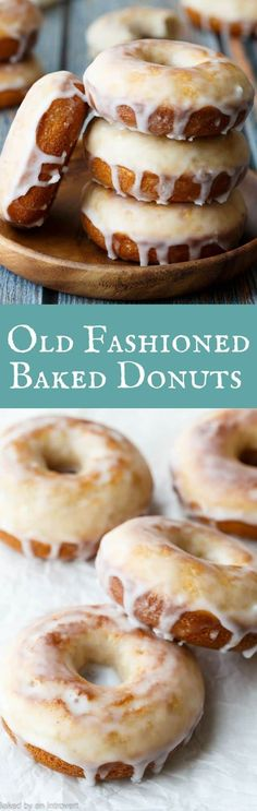 These donuts are crazy good! Baked Old Fashioned Donuts with buttermilk, a thick luscious glaze, and no yeast!