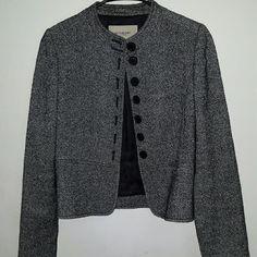 Burberry London Blazer Gray Black Tweed Wool Jackey Blazer Burberry Jackets & Coats Blazers