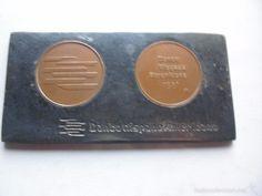 PISAPAPELES CON MONEDAS BANCO HISPANO AMERICANO 1981