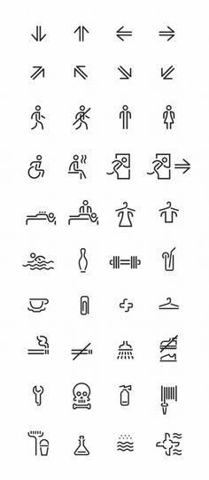 Conjunto de Pictogramas para a Sinalização Centro de Saúde e Entretenimento. By Tomat Design 3 de 5.
