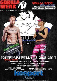 Gorilla Wear'in Suomen virallinen maahantuoja paikalla Jämsän kauppapäivä tapahtumassa LA 20.5.2017 Lue lisää: https://plus.google.com/+GorillawearFinland/posts/RQBjWidiEDN