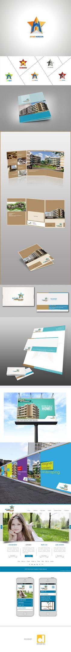 Star Horizon - Logo Design - Collaterals - Web UIUX - Brochure