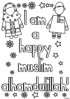 happymuslim photo colourhappymuslim.gif Ramadan Activities, Ramadan Crafts, Activities For Kids, Ramadan Decorations, Body Preschool, Preschool Crafts, Islam For Kids, Islamic Studies, Worksheets For Kids