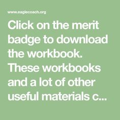 merit badge worksheets | Scouts | Pinterest | Merit badge, Badges ...