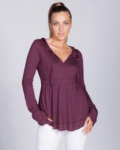 Лилава дамска туника - Proud #online #онлайн #пазаруване #дрехи #туника #трико #лилаво