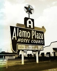 I can't believe how much controversy this sign has caused!  Alamo Plaza Hotel; Oak Cliff, Texas
