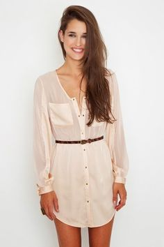 Adorable blushing shirt dress fashion trend