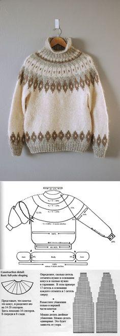 Исландский свитер с круглой кокеткой Lopapeysa | Knit-Tweed Knitting Patterns, Crochet Patterns, Fair Isle Knitting, Sweater Weather, Pulls, Knit Crochet, Turtle Neck, Pullover, Detail