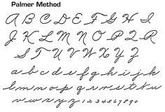 Palmer Method Handwriting