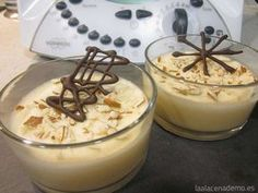 Receta de Mousse de Turr贸n con Thermomix -You can find Thermomix and more on our website. My Recipes, Cooking Recipes, Favorite Recipes, Delicious Deserts, Sin Gluten, Oreo, Tapas, Food And Drink, Pudding