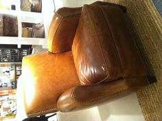 Crate & Barrel leather chair