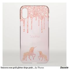 Shop Unicorn rose gold glitter drips pink girly uncommon iPhone case created by Thunes. Rose Gold Pink, Rose Gold Glitter, Rose Gold Backgrounds, Gold Glitter Background, Unicorn Fantasy, Drip Painting, Apple Iphone, Iphone Cases, Girly