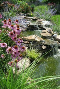 Cascade et fontaine de jardin , 69 déco pour les moments de relaxe - cascade-de-jardin-fleurale