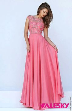 2016 Sherri Hill 50132 Coral Sexy Back Beaded Prom Dress Prom Dresses 2016, Trendy Dresses, Modest Dresses, Fashion Dresses, Party Dresses, Occasion Dresses, Prom 2016, Long Dresses, Quinceanera Dresses