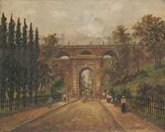 Archway Bridge by V. Archway London, Highgate Cemetery, London Life, Old London, Old Things, England, History, Places, Watercolour