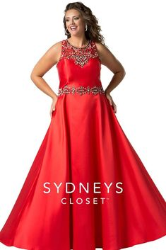 d5870284664 Sydney s Closet Plus Size Prom Look marvelously majestic at prom in this  all-black gown with pewter beading