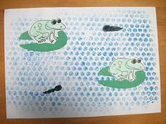 Tadpoles! Preschool Crafts for Kids*: Frog Life Cycle Craft. We like the bubble wrap!