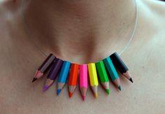 Lápices de colores: haciendo joyas recicladas | Manualidades y ...