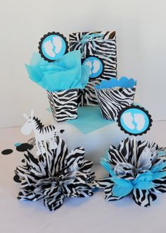 Black and Turquoise Party Decorations | Zebra And Turquoise Party Supplies Pictures