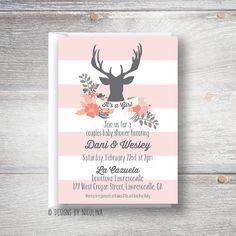 deer baby shower invitations oh deer baby shower invitation deer baby shower rustic baby shower. Black Bedroom Furniture Sets. Home Design Ideas
