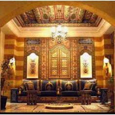 Oriental Damask interior design.